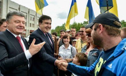 Mihail Saakaşvili, un pariu câştigat al lui Petro Poroşenko la Odessa?
