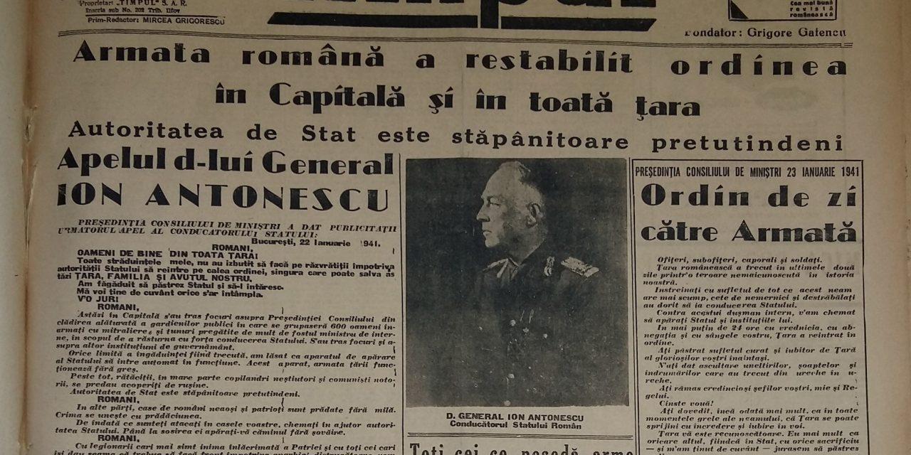 80 de ani de la rebeliunea legionară (21 – 23 ianuarie 1941)